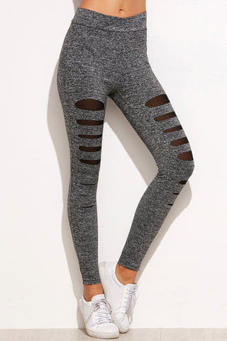 Black One Striped Leggings