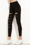 BLACK CUT-OUT LEGGINGS
