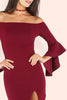 PLUM JOY RUFFLE SLEEVE DRESS RTS
