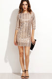 ZIA SCALLOPED SEQUINS DRESS