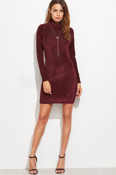 CORDUROY VELVET CUT OUT DRESS RTS