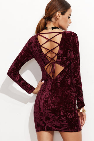 BURGUNDY OFF SHOULDER MAXI DRESS RTS