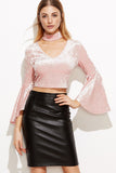 BELL SLEEVE TOP WITH CHOKER
