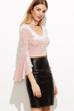 BELL SLEEVE TOP WITH CHOKER RTS