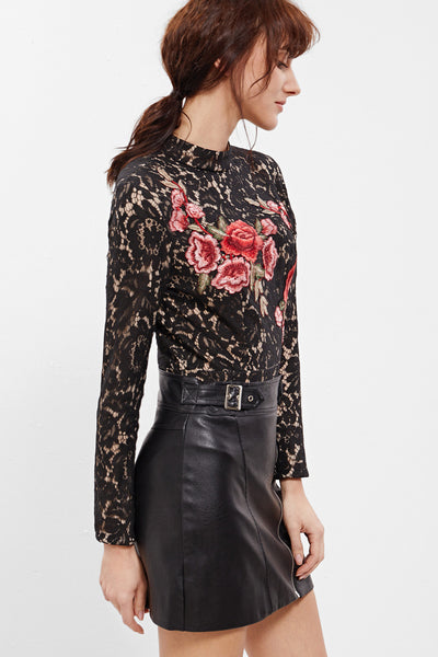 ALL OVER EMBROIDERED BODYSUIT