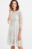 ALL OVER LACE OVERLAY DRESS WHITE