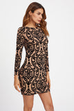 OPEN BACK PAISLEY PRINT FIT DRESS