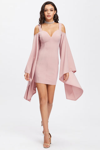 ASYMMETRIC TEXTURED BODYSUIT PEACH