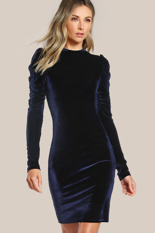 JAZZY LACED UP VELVET DRESS RTS