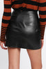 O-RING ZIP DETAIL FAUX LEATHER SKIRT