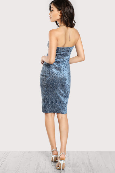 STRAPLESS PENCIL DRESS