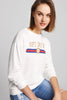 DROP SHOULDER MIXED PRINT SWEATSHIRT