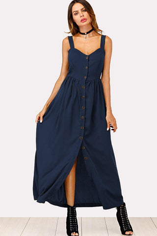 WAIST KNOT NOTCHED NECK POLKA DOT JUMPSUIT