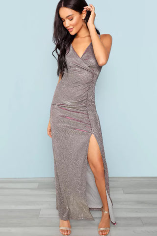 SINGLE BREASTED CAMI DRESS