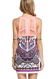 Akira Printed Cut Out Dress