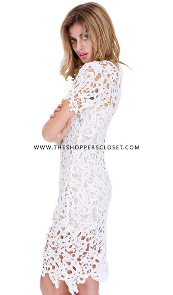 Alisa Crochet Lace Dress
