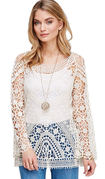 Apricot Open Knit Cover Up