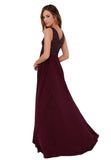 Cassie Deep Red Sequined Maxi Dress