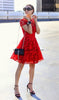 Hannah Lace Red Skater Dress