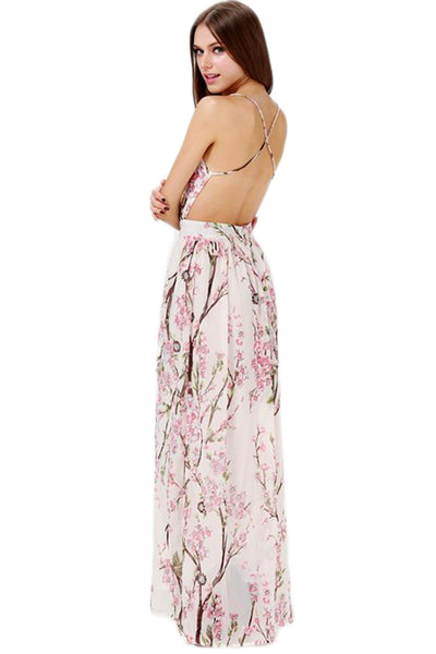 FLORAL MAXI WITH OPEN BACK