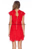 Grace red zipped dress