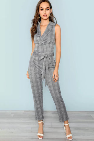 CUT AND SEW ELASTIC WAIST WIDE LEG CAMI JUMPSUIT