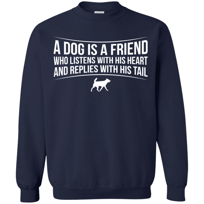A Dog Is A Friend - Sweatshirt Rescuers Club