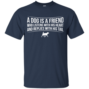 A Dog Is A Friend - T Shirt Rescuers Club
