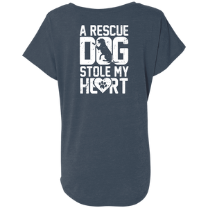 A Rescue Dog Stole My Heart - Slouchy Tee Rescuers Club