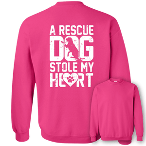 A Rescue Dog Stole My Heart - Sweatshirt Rescuers Club
