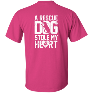 A Rescue Dog Stole My Heart - T Shirt Rescuers Club