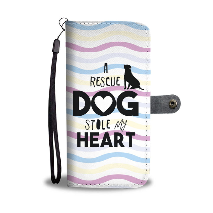 A Rescue Dog Stole My Heart - Wallet Phone Case Rescuers Club