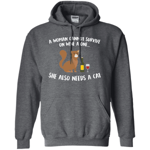 A Woman Cannot Survive Cat - Hoodie Rescuers Club