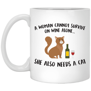 A Woman Cannot Survive Cat - Mugs Rescuers Club