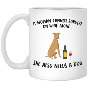 A Woman Cannot Survive On Wine Alone - Mugs Rescuers Club