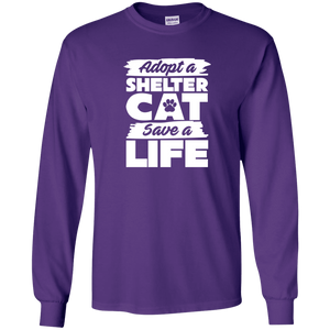 Adopt A Shelter Cat - Long Sleeve T Shirt Rescuers Club