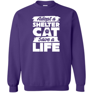 Adopt A Shelter Cat - Sweatshirt Rescuers Club