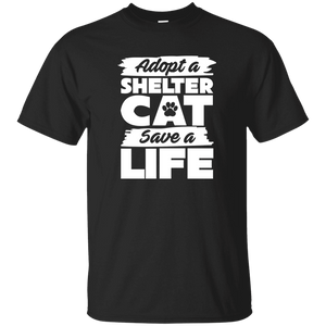 Adopt A Shelter Cat - T Shirt Rescuers Club