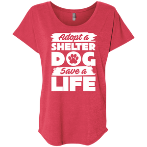Adopt A Shelter Dog - Slouchy Tee Rescuers Club