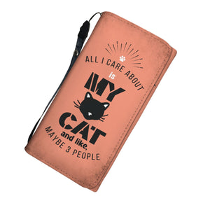All I Care About Is My Cat - Ladies Wallet/Purse Rescuers Club