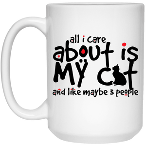 All I Care About Is My Cat - Mugs Rescuers Club