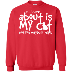 All I Care About Is My Cat - Sweatshirt Rescuers Club
