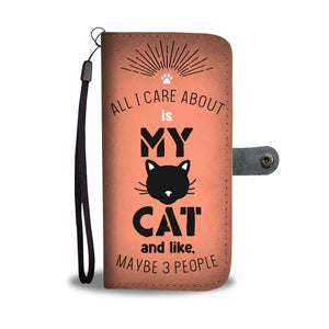 All I Care About Is My Cat - Wallet Phone Case Rescuers Club
