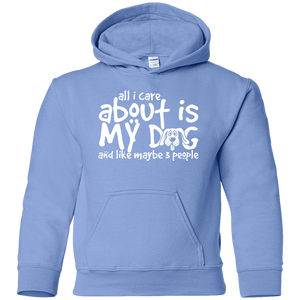 All I Care About Is My Dog - Youth Hoodie Rescuers Club