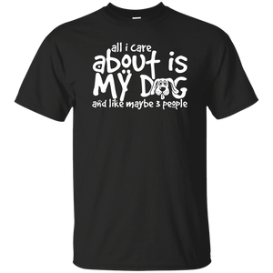 All I Care About Is My Dog - Youth T Shirt Rescuers Club