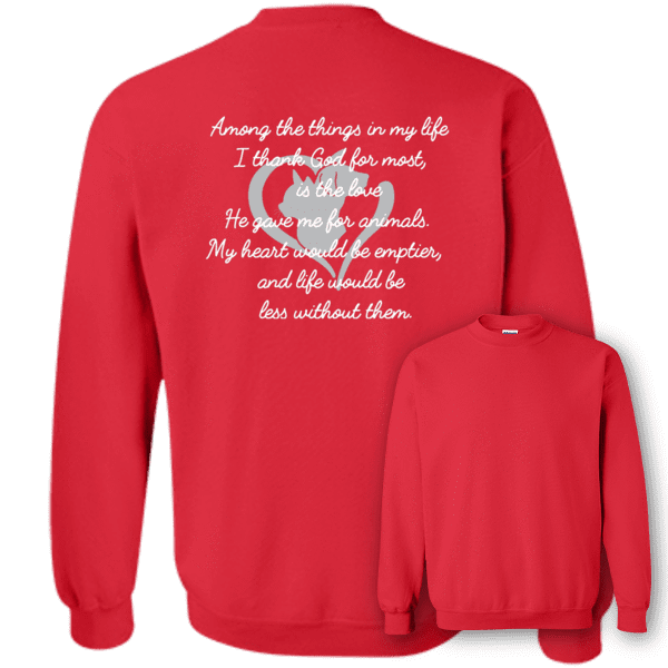 Among The Things In Life God - Sweatshirt Rescuers Club