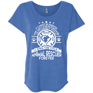 Animal Rescuer Forever - Slouchy Tee Rescuers Club