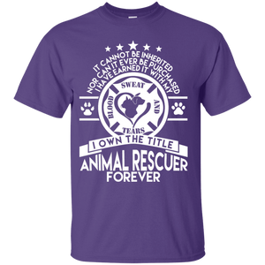 Animal Rescuer Forever - T Shirt Rescuers Club