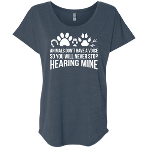 Animals Don't Have A Voice - Slouchy Tee Rescuers Club