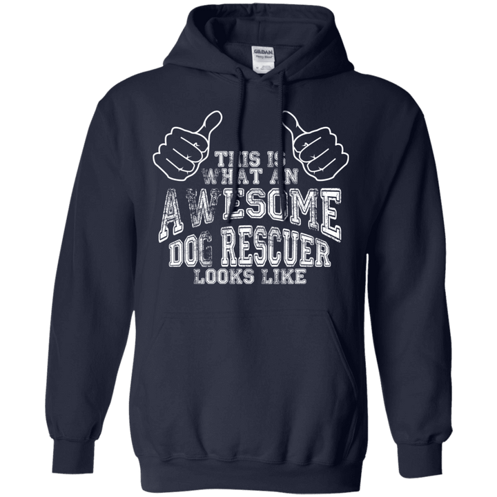 Awesome Dog Rescuer - Hoodie Rescuers Club